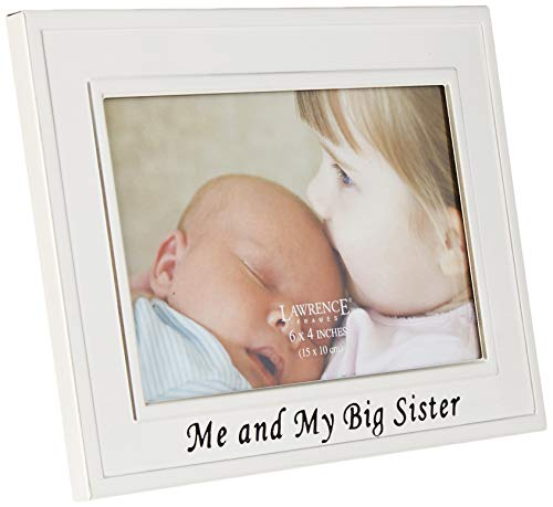 YAY Im A Big Sister Sibling Keepsake Memory Book and Picture Photo Frame Gift Set for Kids, Big Sister