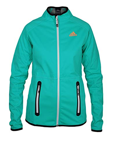 adidas Damen Softshelljacke Funktionsjacke Windjacke ungefüttert, Größe:S, Farbe:Mint