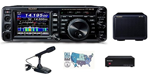 Bundle - 5 Items: Includes Yaesu FT-991A HF/VHF/UHF All-Mode Transceiver, Desk Mic, 23A Power Supply, Matching External Speaker and Ham Guides TM Quick Reference Card!!
