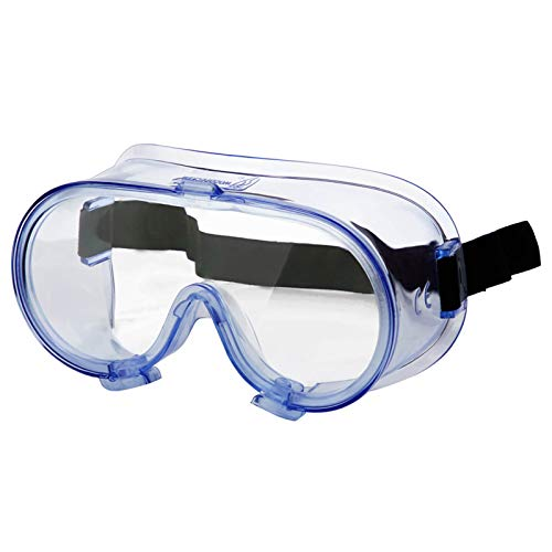 Safety Goggles FDA Registered, Safety Glasses Over-The Glasses, Scratch Resistant eye protection goggles, Premium quality protective glasses, Adjustable Lab Goggles