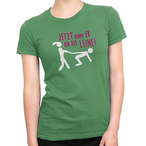 Camiseta de despedida de soltera para mujer, cuello redondo, con diseño de JGA verde XXL