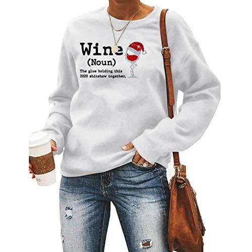 LXHcool Wein The Glue Halten Das 2020 Shitshow Zusammen Sweatshirt (Color : White, Size : XX-Large)