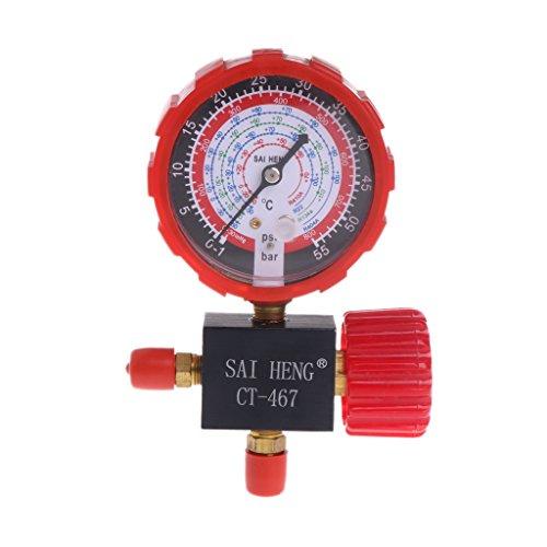 Airco drie-weg enkelvoudige manifold gaasventiel gemakkelijk te lezen R134A R404A R22 R410A door William-Lee 135x90mm/5.31x3.54
