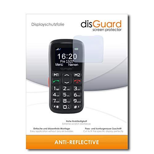disGuard® Bildschirmschutzfolie [Anti-Reflex] kompatibel mit Simvalley Mobile XL-915 V3 [2 Stück] Entspiegelnd, Matt, Antireflektierend, Extrem Kratzfest, Anti-Fingerabdruck - Schutzfolie