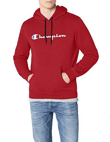 Champion Hombre - Sudadera con Capucha Classic Logo - Rojo, L