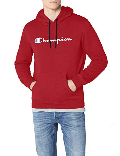 Champion Herren Classic Logo Kapuzenpullover, Rot RS502, S