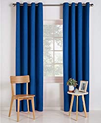 READY MADE:Two Panels Per Package, Each Panel Measures as Selected, Inner Diameter of the Each Ring Measures 4cm. MATERIAL: These thermal eyelet blackout curtains are made of 100 percent polyester | EASY CARE: Machine washable. ENERGY SAVING: Deconov...