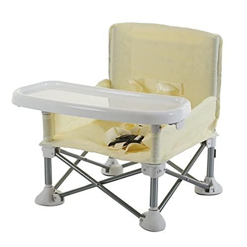 OhhGo Asiento de bebé portátil Booster silla alta asiento elevador plegable Booster silla de alimentación asiento de playa