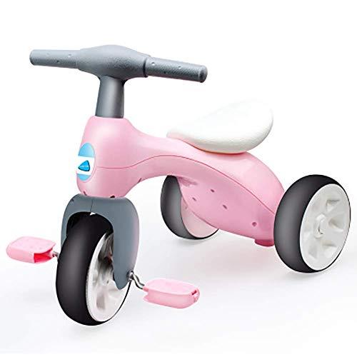 LNDDP 2 in 1 Kindertrike, Mini-Bike Motorische Fähigkeiten Lernen Balance Fahrrad mit Ablagekorb, Kleinkindpedal Dreirad Kind 18+ Monate