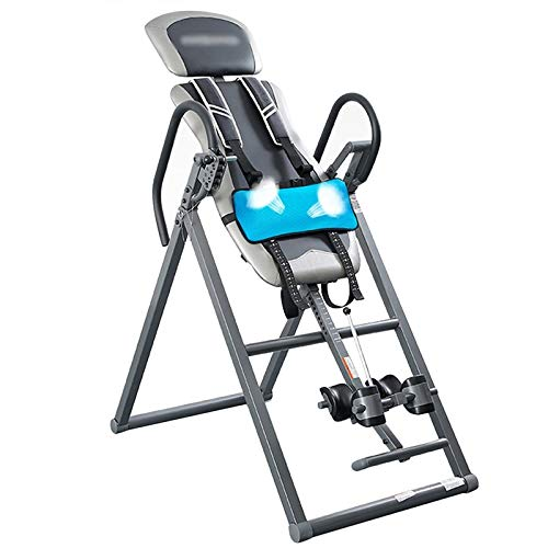LQQ Gravity Heavy Duty Inversion Table Foldable Inversion Equipment Adjustable Inversion Bench with Air Bag Multifunction Back Stretcher Machine