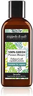 Nuggela & Sulé Champú 100% Green Apto Veganos 100ml/3,38Fl.Oz Formato Viaje. Potente fórmula activos naturales. Nutre y fortalece. SIN: sulfatos, siliconas, parabenes. MEJOR PRODUCTO ESQUIRE MAGAZINE.