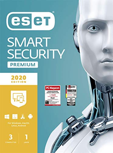ESET Smart Security Premium 2020 | 3 Geräte | 1 Jahr | Windows (10, 8, 7 und Vista), macOS, Linux und Android | Download