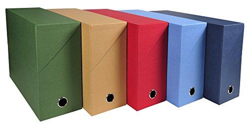 Caja archivadora de lona de Exacompta, color Surtidos. A4