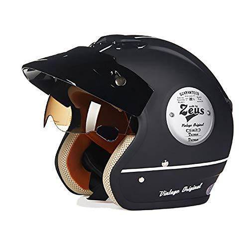 Stella Fella Cascos para hombre negro mate ABS casco de bicicleta para adultos, casco de montar en coche eléctrico, casco de bicicleta de montaña, equipo de equitación al aire libre (tamaño: M)