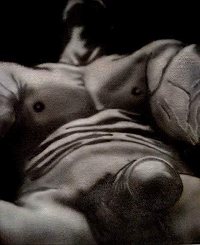 Acrylmalerei auf Leinwand/Akt nackt / 100% handbemalt schwarz und weiß/signiert original Gay Art Sale/Sexy/Männer/Model/Guy/Kunst 30x25cm 10