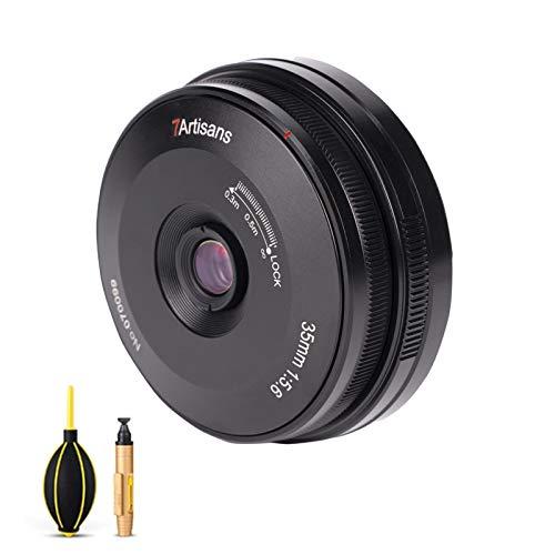 7artisans 35mm F5.6 広角レンズ パナソニック/ライカ/Sigma lマウント 広角レンズ フルフレーム フラットフォーカス MF パンケーキレンズ Leica SL、SL1、SL2 、panasonic S1、S1R、S1H、S5、Sigma FP-L、FP カメラ用