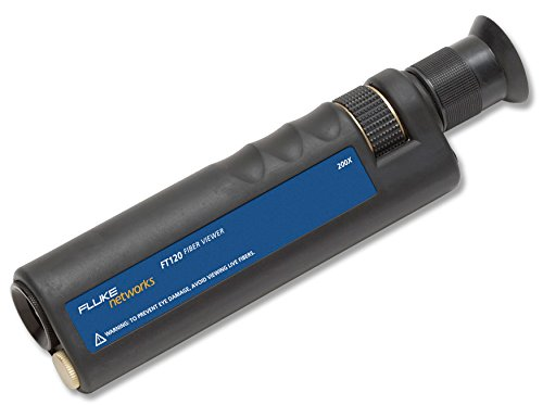 Fluke Networks FT120 Handheld FiberViewer Microscope, 200x Magnification with 2.5mm Universal Adapter, Fiber Tester