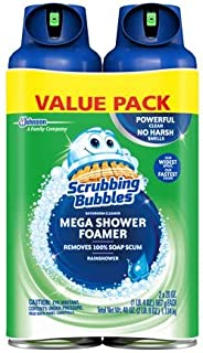 Scrubbing Bubbles Mega Shower Foamer Aerosol, 20 Oz, Pack of 2