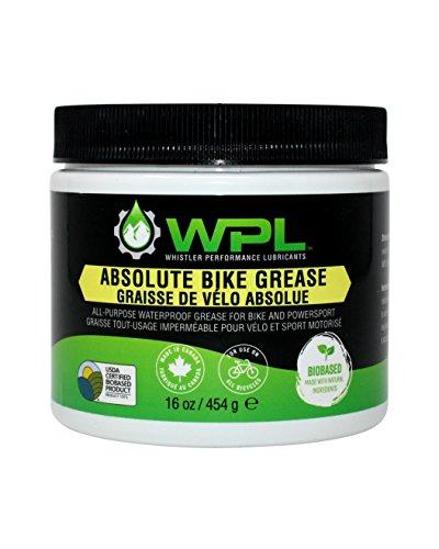WPL Absolute Bike Grease, grasso multiuso per biciclette, formula biodegradabile a base biologica e non tossica per la manutenzione superiore di bici da strada e mountain bike