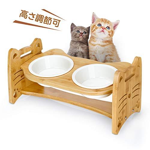 猫 犬 えさ皿 食器台 食べやすい フードボウル 高さ調節可能 陶器 OGORI