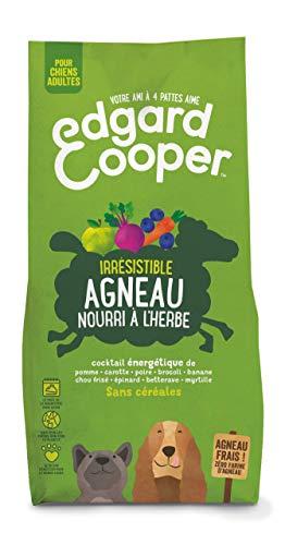Edgard & Cooper, Croquettes Chien sans Cereales Hypoallergénique, Nourriture Chien Adulte Naturelle Agneau Frais nourri à l'herbe, Alimentation équilibrée complète Saine de qualité
