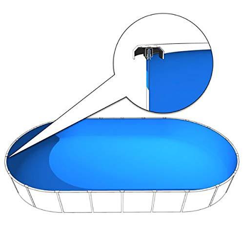 Schwimmbadfolie oval 7,20 bis 7,30 x 3,60 x 1,35m, 0,60 mm Stärke, Poolfolie 720x360cm