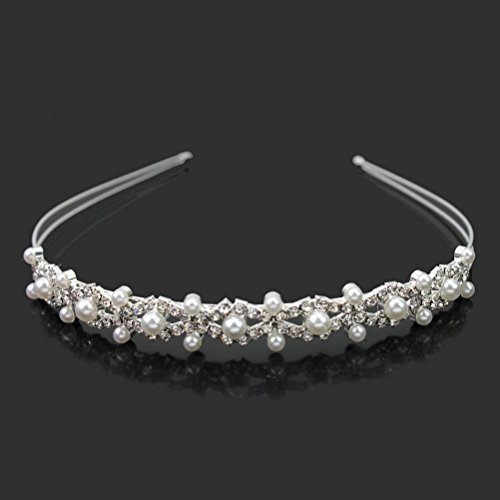 Pixnor Brautjungfer-Haarreif mit Perlen, für Hochzeit, Brautjungfer