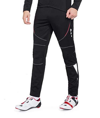 Santic Men's Cycling Pants Fleece Lined Windproof Winter Outdoor Athletic Pants for Biking Running Hiking