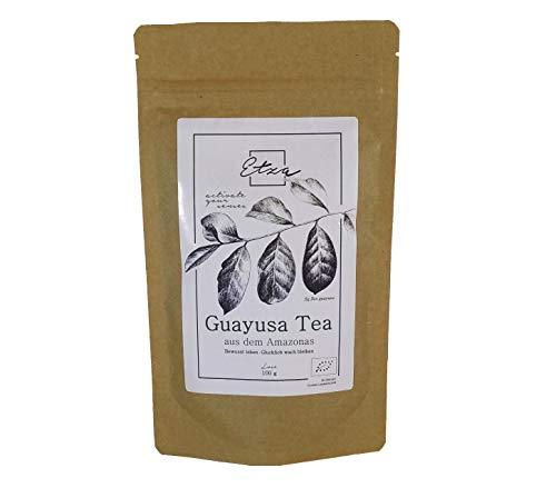 BIO Guayusa Tee aus dem Amazonas, lose 100g - Langanhaltende und fokussierende Energie - Vollgepackt mit Koffein und Antioxidantien - Perfekte Kaffeealternative -Feinschnitt
