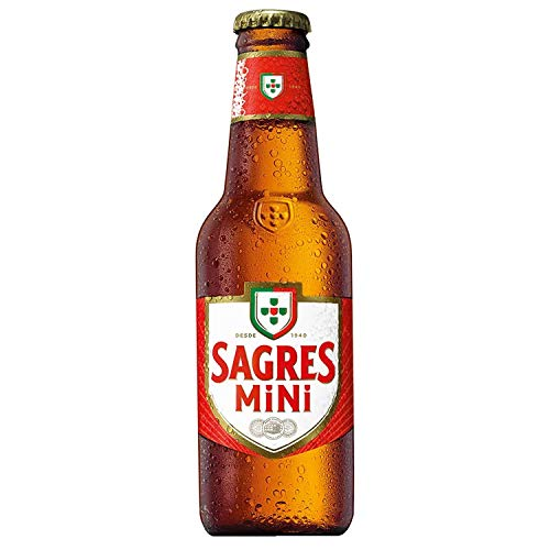 Cerveza SAGRES Mini- 24 Unidades de 0,25 cl - Cerveza Portugal