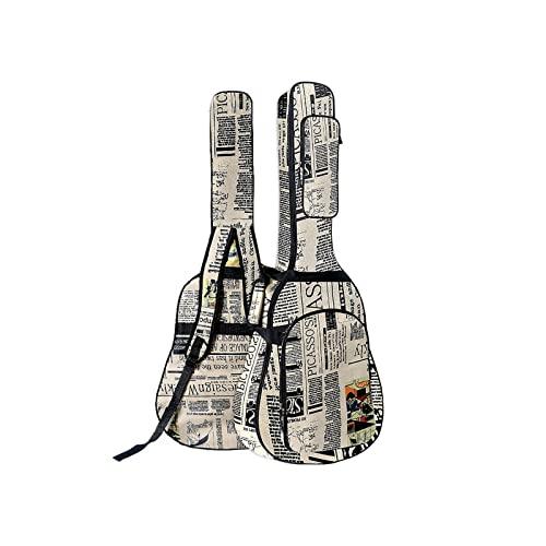 CREACEC Bolsa de Guitarra Bolsa de Gig, Bolsa de Guitarra Alquileres de Guitarra con Espesamiento Resistente al Agua con Correas Acolchadas de Doble Costura,B