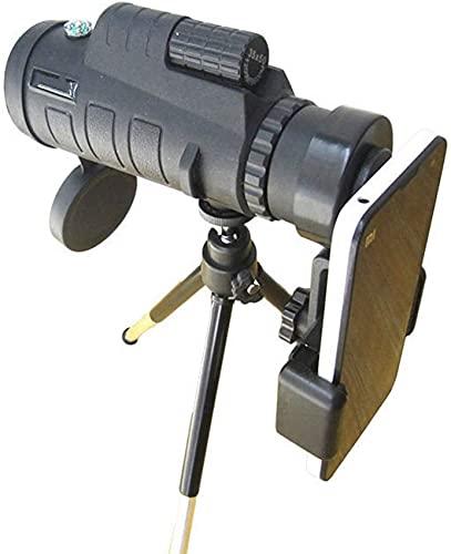 Telescopio monocular, Monocular Impermeable con Prisma FMC BAK4 Duradero y Transparente, Monocular HD de Alta Potencia 12X50 con Soporte para teléfono Inteligente y trípode,
