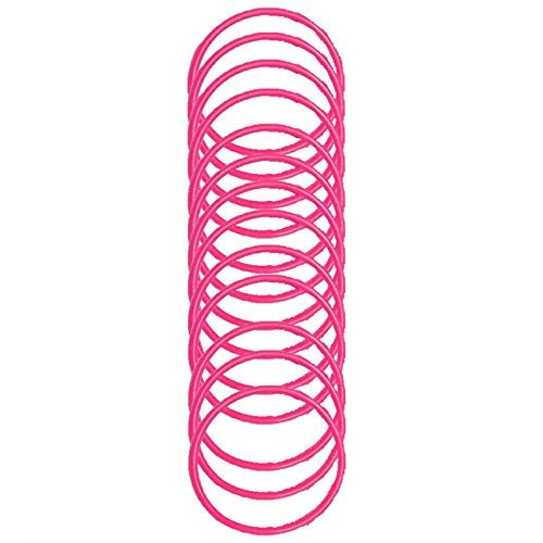 12 Pack of Gummy Bangle Bracelets Parties Fancy Dress Accessory (Pink)
