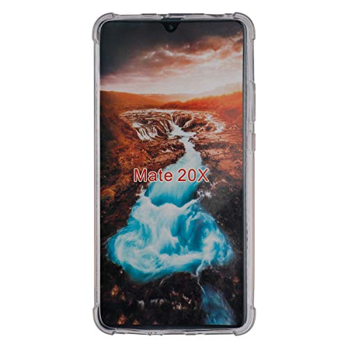 swark Coque de protection Ttimao compatible avec Huawei Mate 20 X - Souple - Transparent - En silicone TPU - Avec coussin d'air - Design Drop Protection ultra mince - Anti-chocs et anti-rayures