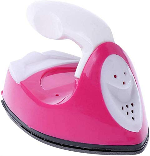 Mini Heat Press Machine, Portable Travel Irons,Mini Electric Iron for Crafting Clothes Sewing for Clothes DIY T-Shirts Shoes Hats Small Heat Transfer Vinyl Projects and Ironing Clothes (Pink)