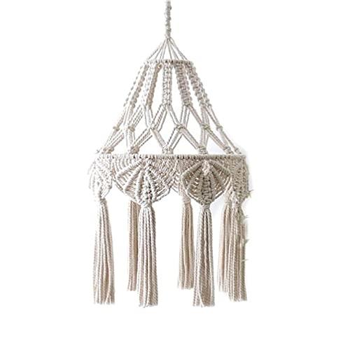 Cubierta de luz de techo de pantalla de lámpara tejida tejida a mano Borla de macramé para la decoración de la habitación del bebé de la sala de estar