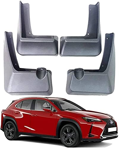 4 piezas Coche Faldillas antibarro para Lexus UX UX200 UX250H 2019-2020, Resistentes Al Desgaste AnticolisióN Fender Accesorios CarroceríA