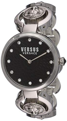 Versus Versace Orologio Analogico Classico Quarzo Donna con Cinturino in Acciaio Inox S75010017