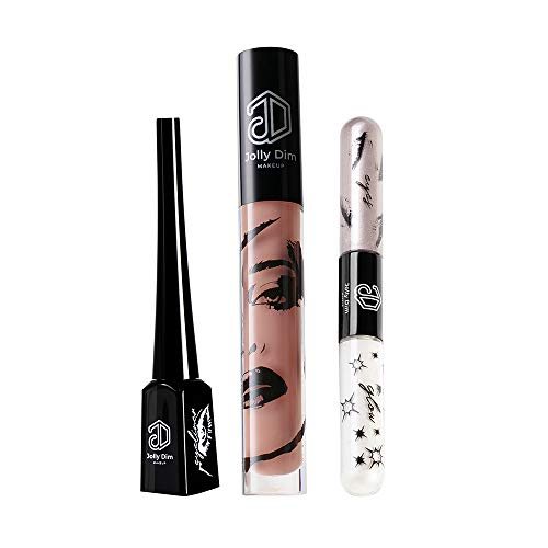 Jolly Dim make-up set warm goud - eyeliner. 5. Lipgloss Gold Glitter. Eyes & Glow Duo set Sunny Gold 3. Een must-have set. Creëer een complete look. Peachy Gold