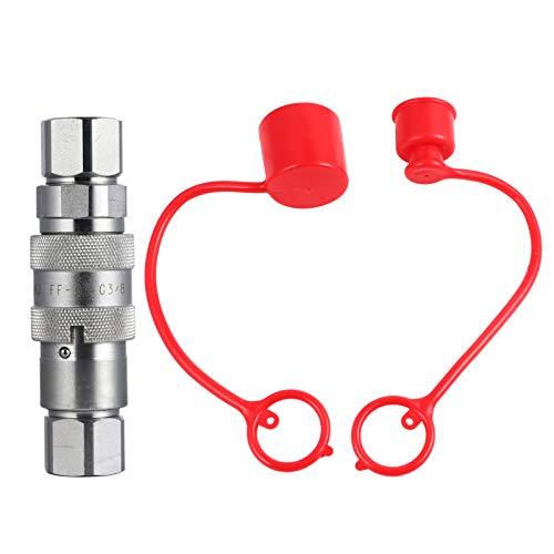 VILLCASE 2-Teiliger Hydraulischer Schnellkupplungsadapter für Hydraulische Schnellkupplung für Hochdruckölleitungen für Flachbagger