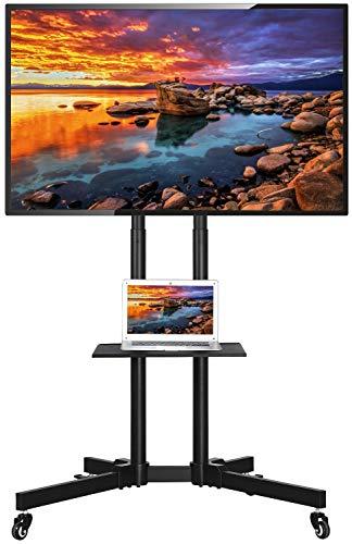 Yaheetech Support TV sur Pied à roulettes avec Gestion des Câbles pour 32 à 65 Pouce écrans/LCD/LED/Plasma VESA 200x200 mm à 600x400 mm Support TV Mobile avec Freins