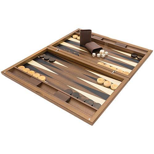 Regency Chess El Dal Negro York Deluxe Backgammon Set