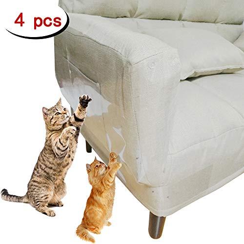 Clashduck Protectores de Muebles de Gatos para Muebles de Gatos, Muebles de Gatos, Protectores de arañazos para sofá, Puerta, Muebles de Madera, 4 Paquetes