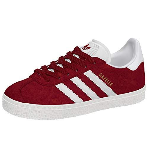 adidas Gazelle, Zapatillas de deporte Unisex niños, Rojo (Collegiate Burgundy/Footwear White/Footwear White 0), 28 EU