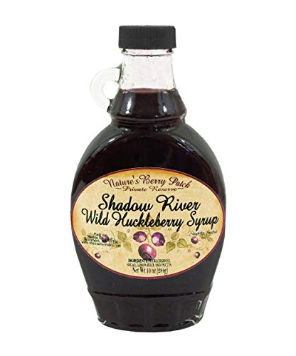 Shadow River Wild Huckleberry Gourmet Berry Syrup With Real Fruit Pieces, 10 oz Jar