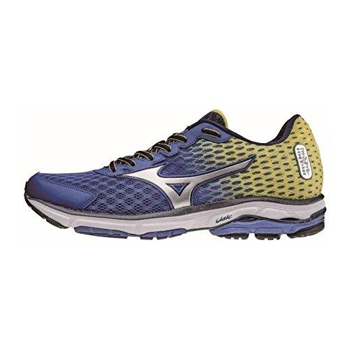 Mizuno Wave Rider 18 - Zapatos para Hombre, Color azzurrogiallo, Talla 40