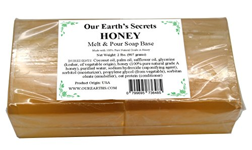 Honey - 2 Pound Melt and Pour Soap Base - Our Earth's Secrets