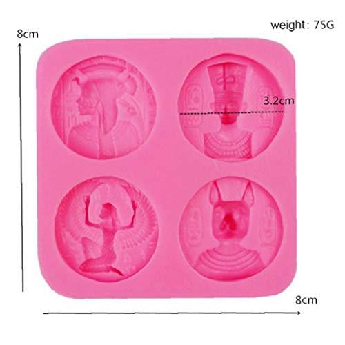 CULER 4 Löcher Ägypten Sphinx-silikon-Kuchen-Form Kuchen, Der Werkzeuge Plätzchen Schokoladen-Formen Münzen Fondantform
