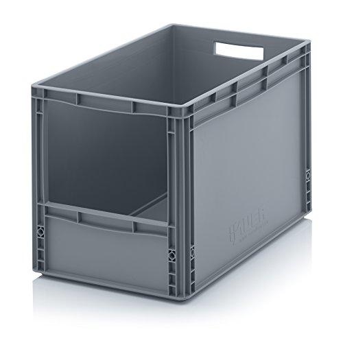 Auer Euro Sichtlagerkasten 60 x 40 x 42 cm inkl. gratis Zollstock * Eurobehälter mit Fenster