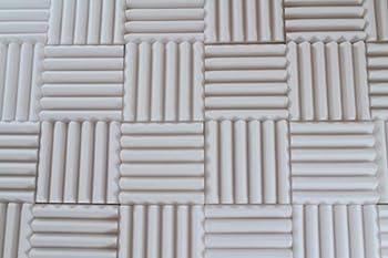 white foam panels